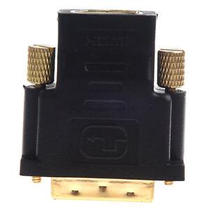 J4-Neu-Vergoldet-HDMI-Buchse-auf-DVI-D-Stecker-Video-Adapter-DVI-auf-HDMI-Kabel