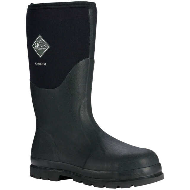 Chore Steel Toe All Conditions Work Boot Muck BOOTS Black Mens 11 Womens 12 Leak for sale online