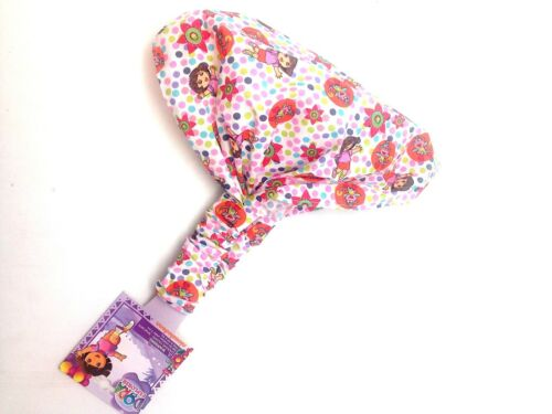 Dora Boots the Explorer Girls Bonnet Hat White Little Pink Polka Dot Red Flower