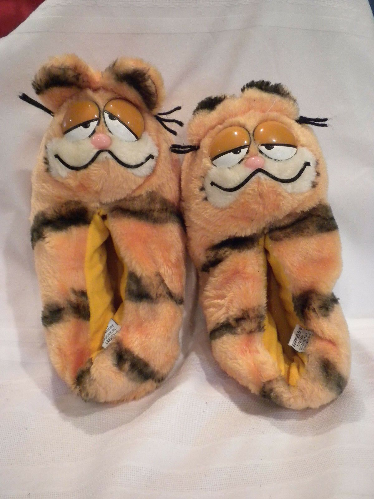 GARFIELD COLLECTIBLE SLIPPERS SHOES 8/9 LADIES SIZE 8/9 SHOES LARGE 77250d