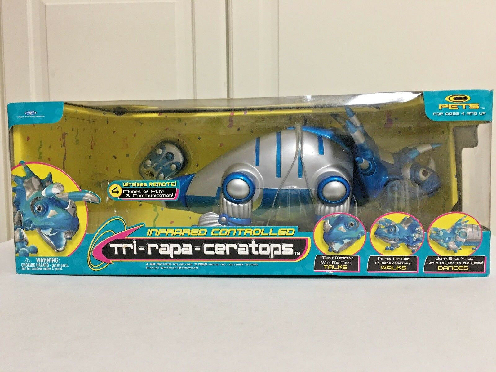 Trendmasters Tri-Rapa-Ceratops Robot Electronic Wireless Remote Dinosaur 1999