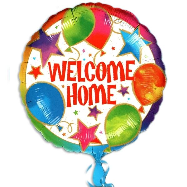 Willkommen Folienballon Welcome Home 45cm Wilkommensballon ca