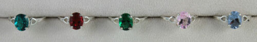 Helenite Oval 9X7mm Hearts Ring Sterling in 5 Colors Mt St Helens Obsidianite