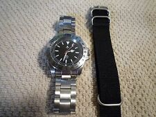 Explorer II style watch military dial 2 bands