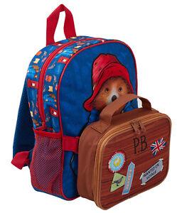 Paddington Bear Kids Backpack + Detachable Lunch Bag/Pencil Case Nursery School