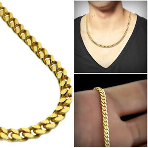78ad4b652 3.5mm Mens Miami Cuban Curb Link Chain Necklace Solid 10K Real ...