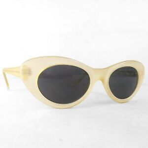 Vintage-design-Eyewear-sunglasses-Acrylic-White-New-Old-Stock-80s