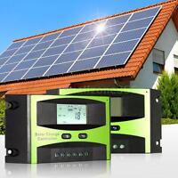 Solar Panel Charge Controller Battery Regulator 12v 24v 10a/15a/20a/25a Us T8k7