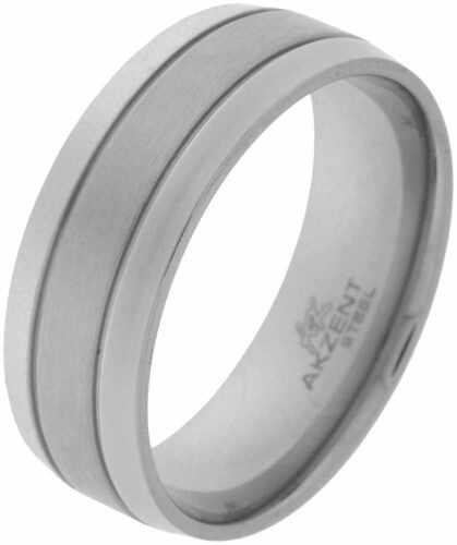 AKZENT Damen Edelstahl Ring seidenmatt ER009