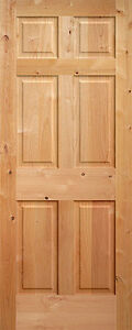 6 panel raised knotty alder traditional stainable solid - Knotty alder interior doors sale ...