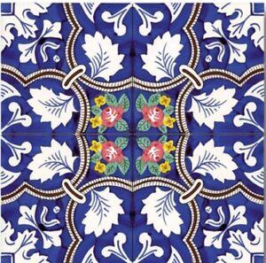Piastrelle 20x20 decorate a mano ceramica vietri ebay - Piastrelle ceramica vietri ...