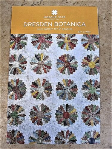 "Dresden /& Dresden Botanica Quilt Pattern for 5/"" Squares Missouri Star Quilt Co"