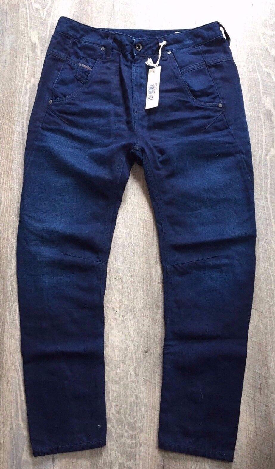 Para Mujer Diesel  Jeans Fayza 0665Y novio Mezcla De Lino Cintura Baja Italia 27 30 31New  ventas en linea