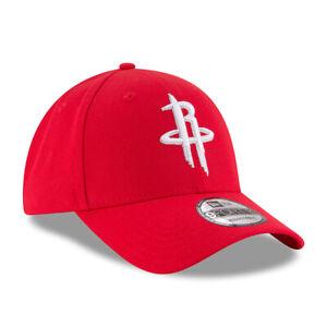 New-Era-9FORTY-NBA-Houston-Rockets-Red-The-League-Curved-Peak-Baseball-Cap