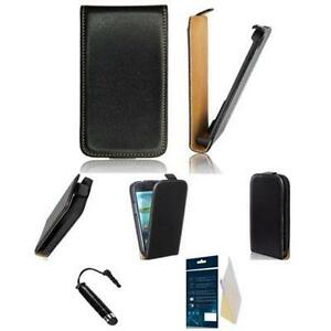 TRENDY-FLIP-HULLE-TASCHE-SONY-XPERIA-Z1-COMPACT-ETUI-STIFT-FOLIE-BLACK