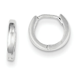 925-Sterling-Silver-Rhodium-Plated-Polished-2mm-x-9mm-Hinged-Hoop-Earrings