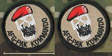 Kommando Spezialkräfte KSK Bundeswehr SP OPS RED BERET CALICO JACK SKULL 2-TAB