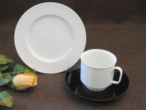 weiss Untertasse Porcelaine Noire ROSENTHAL VARIATION  Mokkagedeck 3-tlg