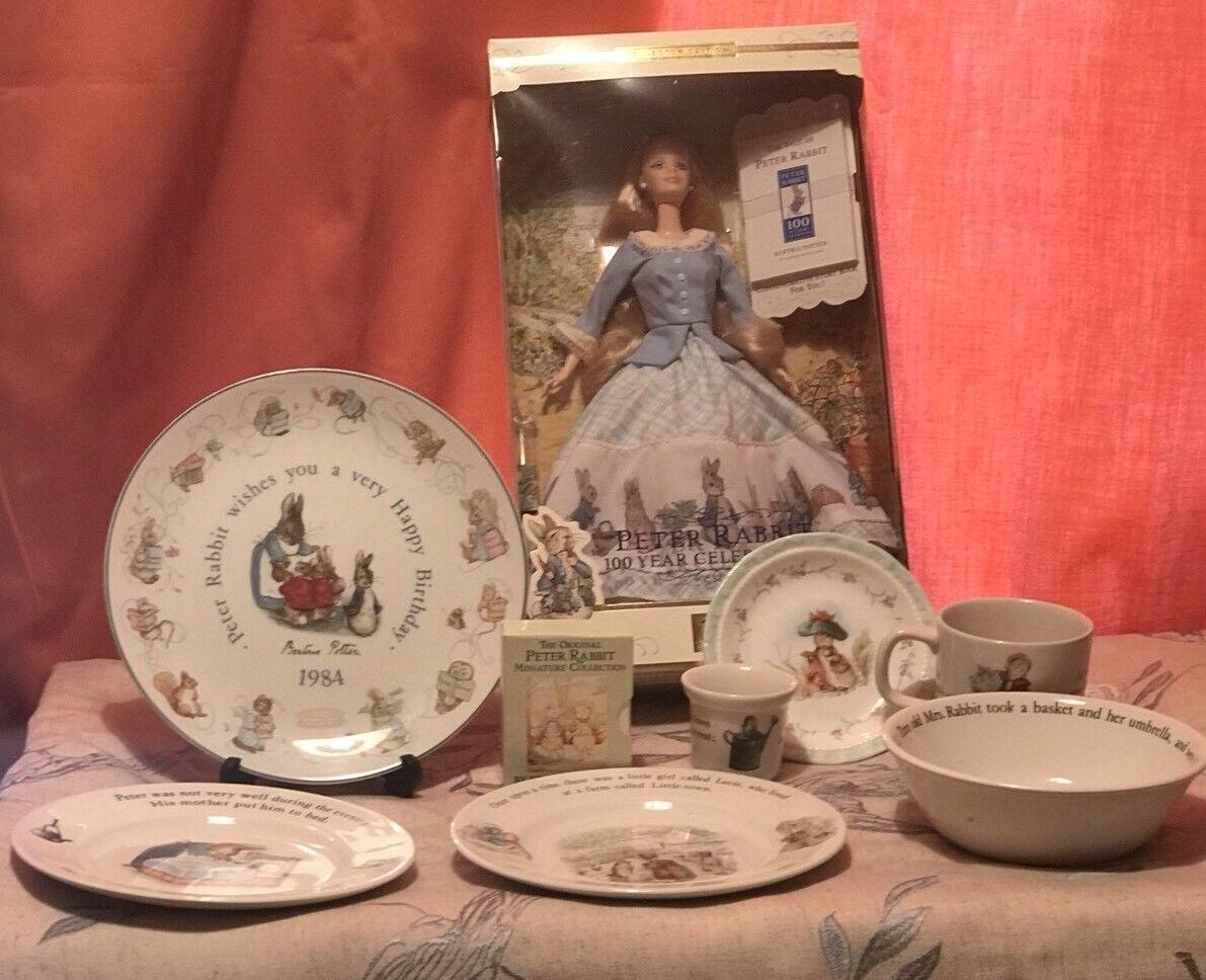 Peter Rabbit Edicion Coleccionista Muñeca Barbie 100 año celebraciones Y Porcelana
