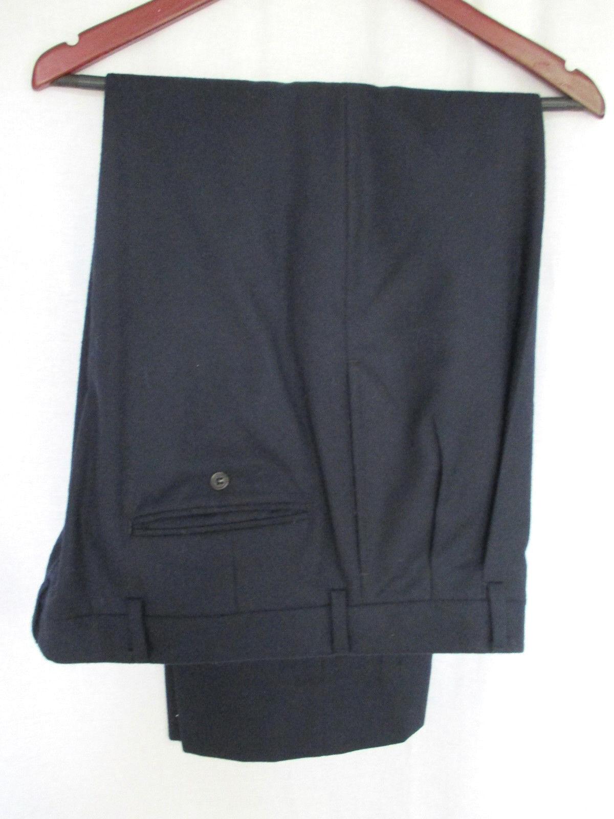 Roundtree & Yorke Men's Pants 42x26.5 NWT Midnight Navy 100% Cotton