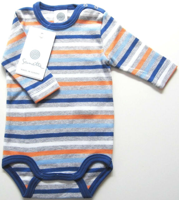 LA Body Gr.56 Sanetta NEU m.E blau grau geringelt baby ssv