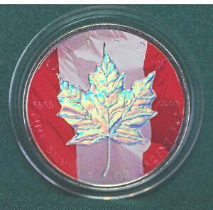 2003-CANADA-5-Flag-Hologram-Silver-Maple-Leaf-1-oz