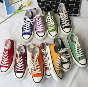 11 Colors New fashion Womens Girls Classic Canvas Lace Up Shoes Casual Sneakers