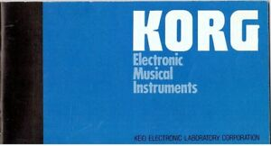 1985-KORG-Electronic-Musical-Instruments-Catalogue-Good-Condition