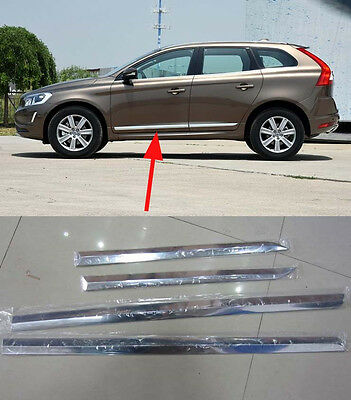 ABS Chrome Auto Body Side Door Molding Trim Stripe For Volvo XC60 2014 2015 2016