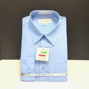 Daniel Ellissa Men/'s Soft Butter Dress Shirt Convertible Cuffs Sizes 14.5-21.5