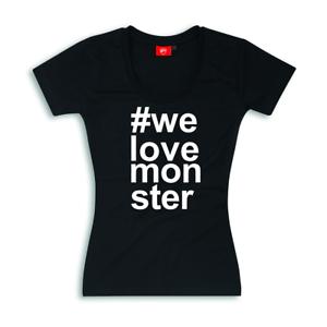 """Ducati T-Shirt Femmes /""""WE LOVE monstre/"""" 98769961"""