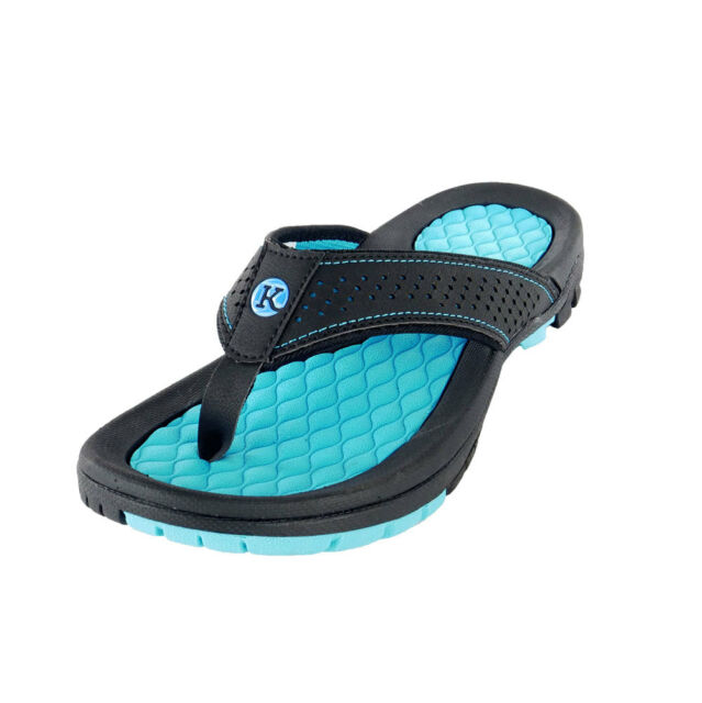 832ed2df9c07 Kaiback Men s Lakeside Sport Flip Flop Sandal 10 11 Blue for sale online