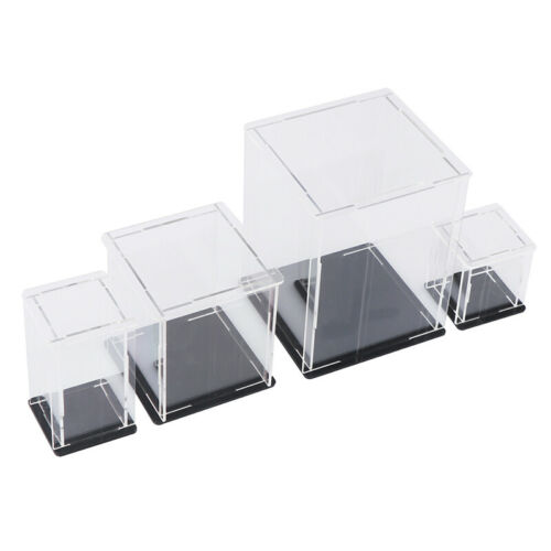 Acrylic Display Case Self-Assembly Clear Cube Box UV Dustproof Toy ProtectiBPHH