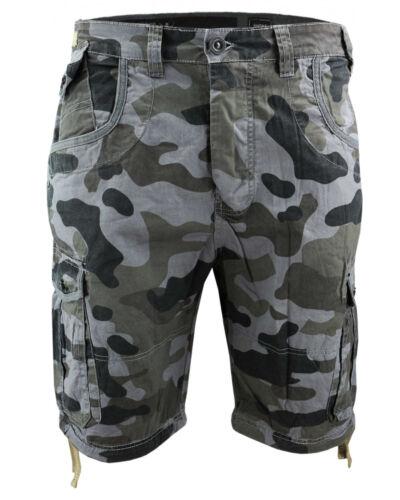 Crosshatch Men/'s Shorts Ryehill Camo Combat Shorts Camouflage Army Bermuda