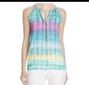 8203fa9ccf105 Calvin Klein Sleeveless Pastel Tie Dye Tank Top With chain Neck Size ...