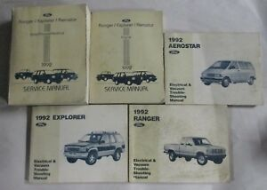 1992 ford aerostar ranger explorer service repair manual set wiring diagrams ebay. Black Bedroom Furniture Sets. Home Design Ideas