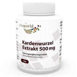 Vita-World-Kardenwurzel-Extrakt-500mg-100-Vegi-Kaps-Made-in-Germany