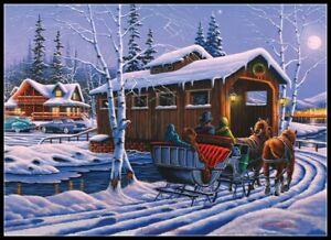 Romantic-Christmas-Chart-DIY-Counted-Cross-Stitch-Patterns-Needlework