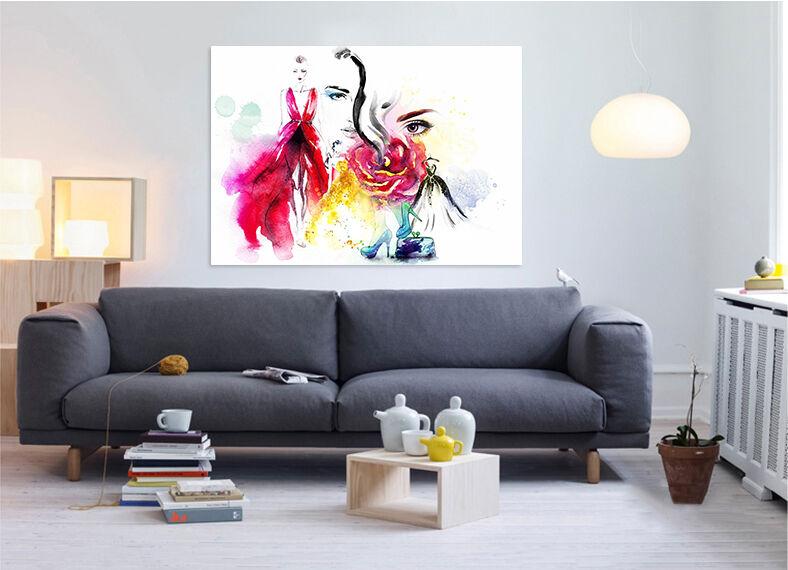 3D Farbportrtmalerei 665 Fototapeten Wandbild BildTapete Familie AJSTORE DE