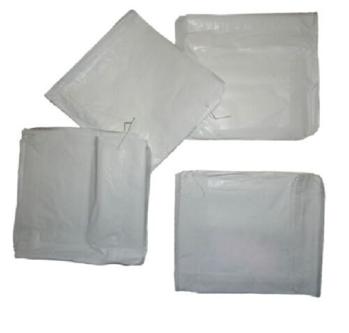 White Paper Bags10/'/' x 10/'/'  Strung Food Use x 1000  Takeaway Restaurant
