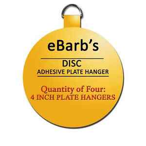Image is loading Four-4-in-hangers-eBarb-039-s-Disc-  sc 1 st  eBay & Four 4 in hangers-eBarb\u0027s Disc Plate Hangers-BEST PRICES! SEE OUR ...