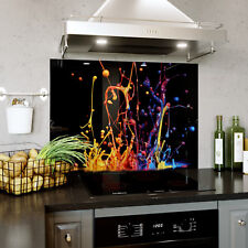 Glass Splashback Kitchen Tile Cooker Panel ANY SIZE Splash Colourful Paint 0317