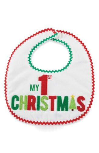 Mud Pie Christmas Baby My 1st Christmas Feeding Bib FREE SHIPPING!