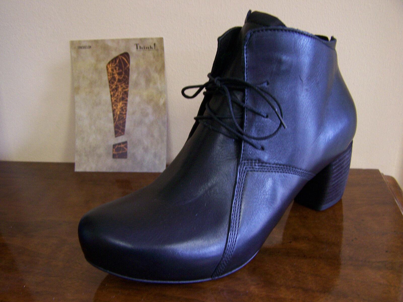 Grandes zapatos con descuento THINK SCHUHE Stiefelette SASSO schwarz Lederfutter + Schuhbeutel auch für GOTHIC
