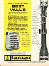 1970 Print Ad of Tasco Riflescopes Rifle Scope Cutaway View