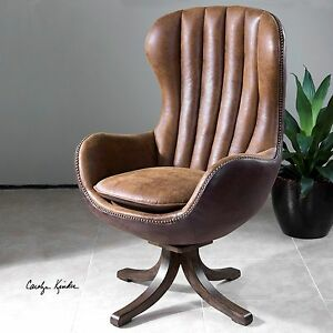 Strange Details About Garrett Swivel Mid Century Modern High Back Accent Chair Faux Leather Suede Ibusinesslaw Wood Chair Design Ideas Ibusinesslaworg