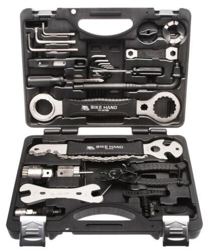 Fahrrad Werkzeugsatz Reparatur Service Rad Werkzeugkoffer Set Radsport 22  tlg