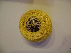 cinq-boules-de-coton-perle-DMC-grosseur-N-5-coloris-N-725-article-116