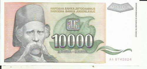 4RW 09MAR UNC CONDITION YUGOSLAVIA 10000 DINARA 1993  P 129