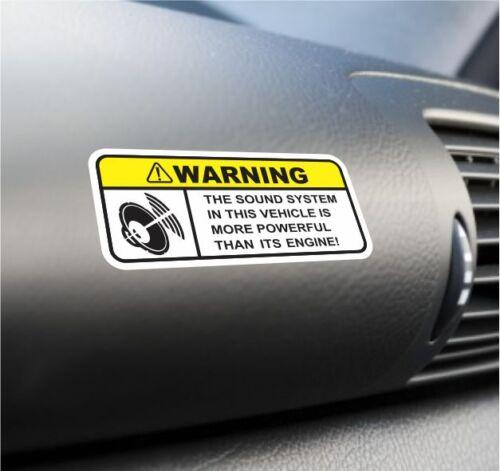 Funny Sound System Warning Sticker Set Vinyl Decal Subwoofer JDM Car Woofer Dope